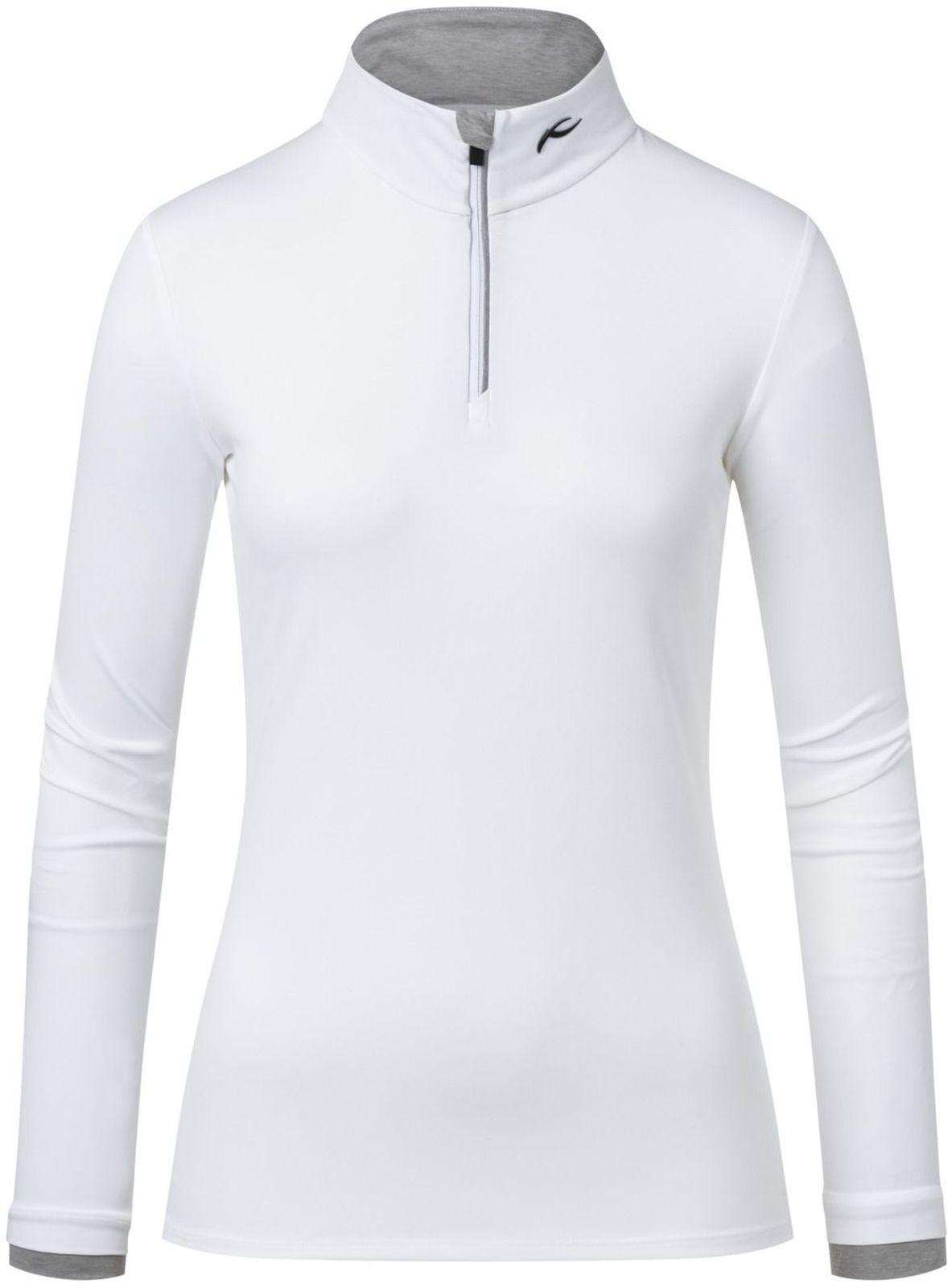 Dámská mikina Kjus Women Feel Halfzip - white - Ski a Bike Centrum ... ec23346e992