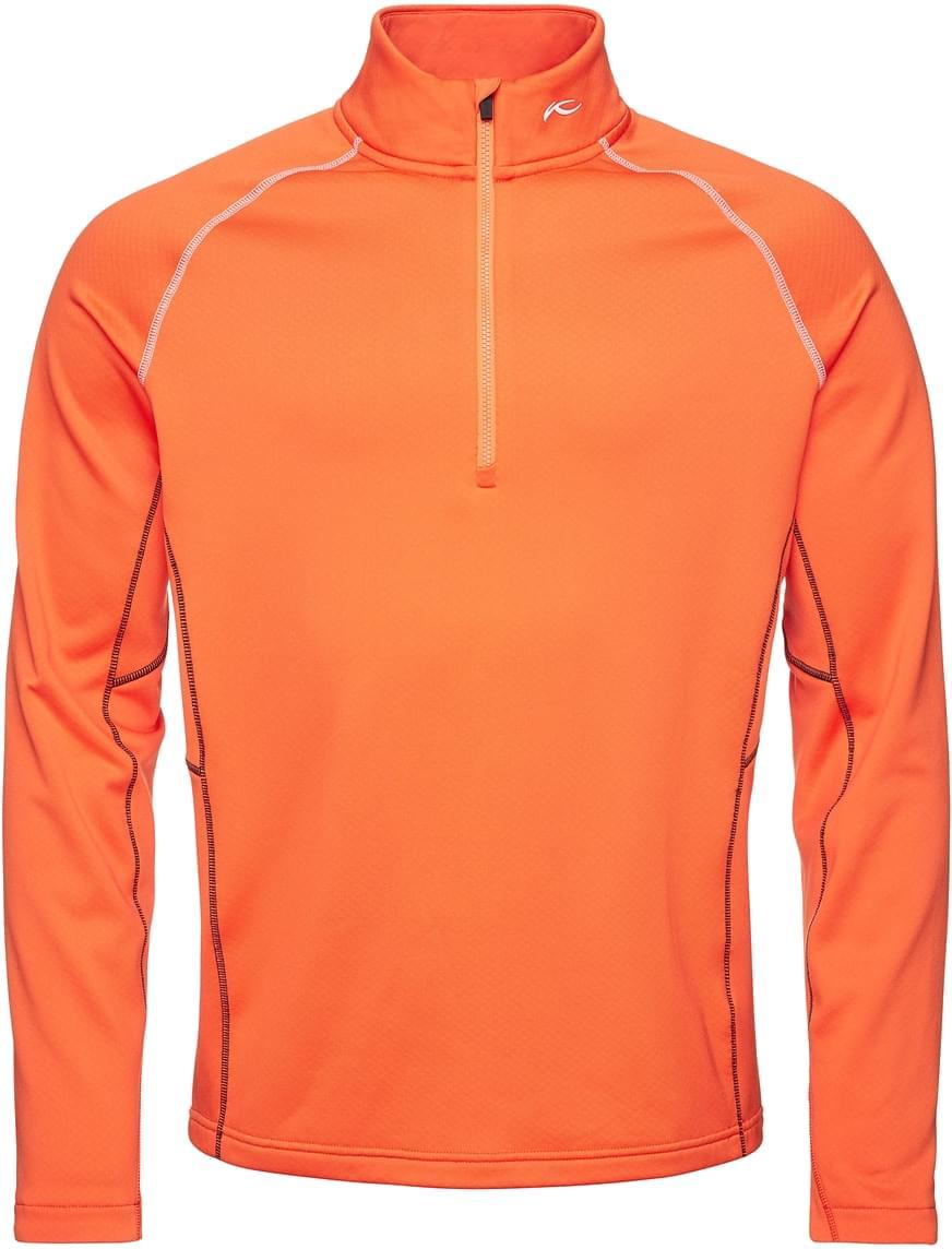 Pánská flísová bunda Kjus Men Diamond Fleece Halfzip - kjus orange ... 4367802a5f