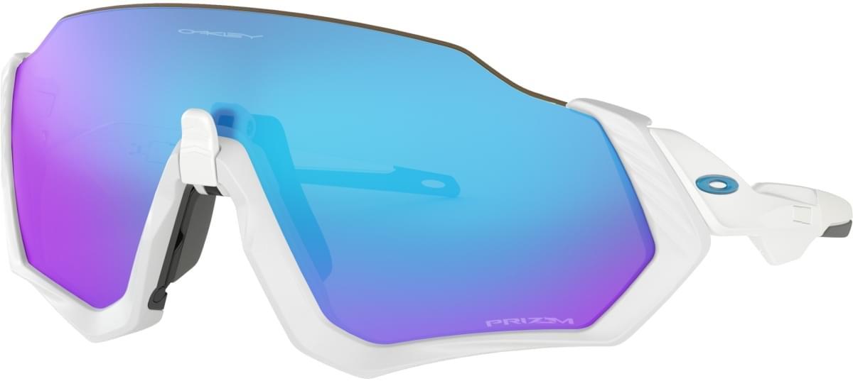 Oakley Flight Jacket - Matte White/White /Prizm sapphire uni