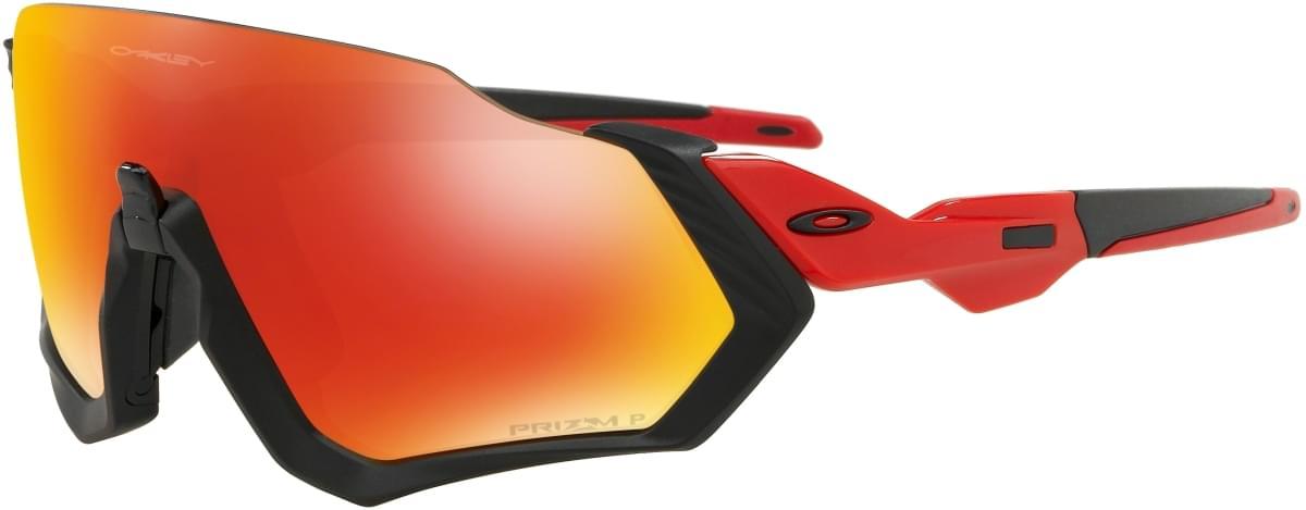 Oakley Flight Jacket - Matte Black/Redline/Prizm Ruby Polarized uni