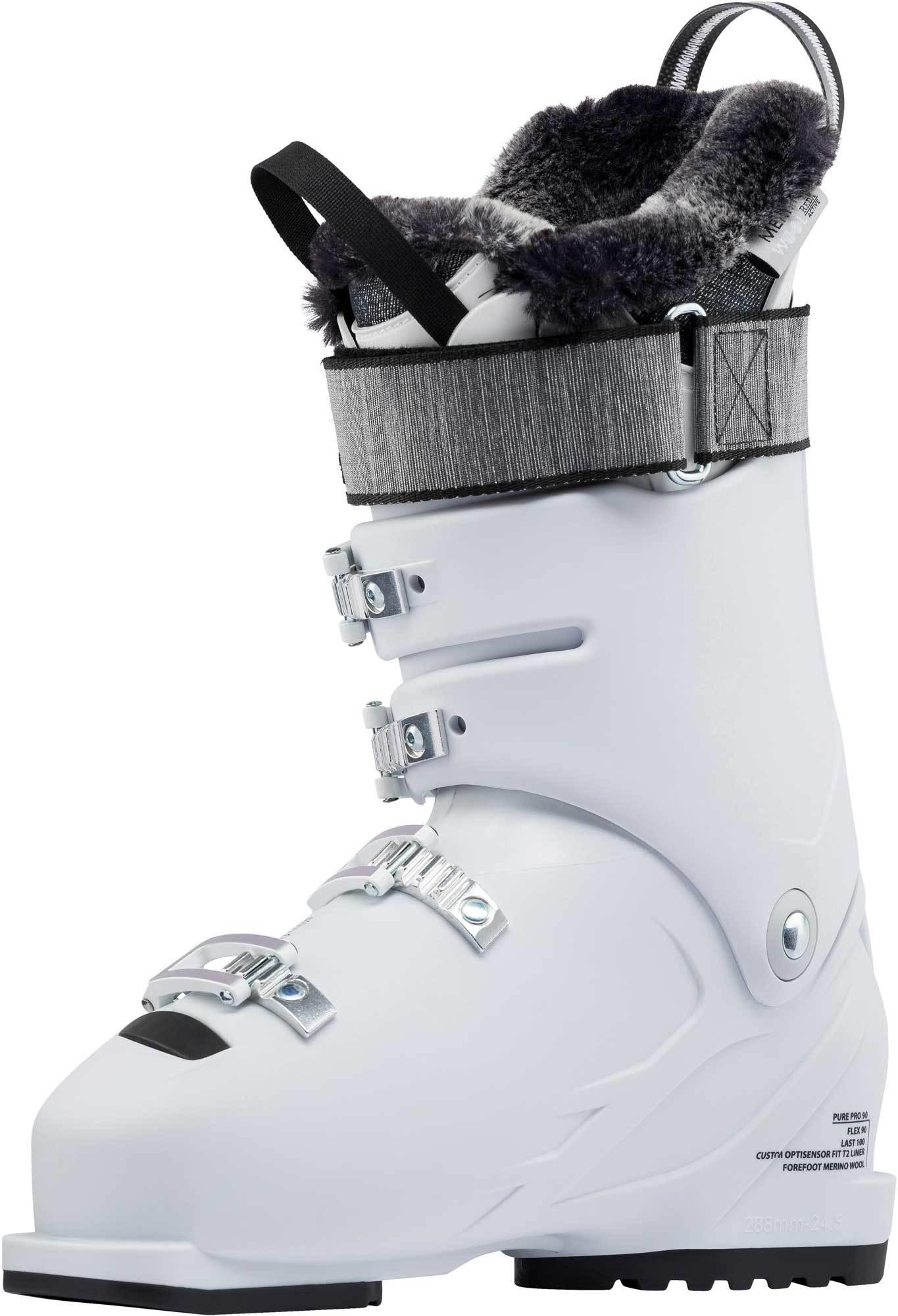Dámské sjezdové boty Rossignol Pure Pro 90 white grey - Ski a Bike ... 0e253dc1e2c