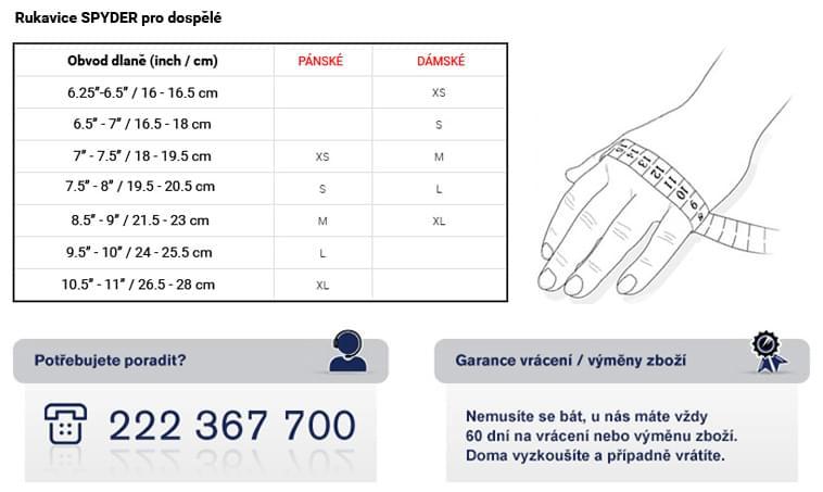 63aec8ded0f Pánské rukavice Spyder Men s Underweb Gore Tex® Glove - blk blk ...