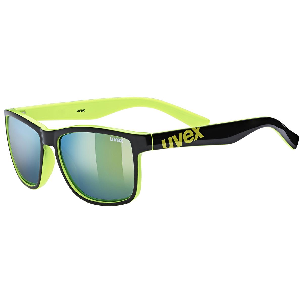 Uvex Lgl 39 - black lime/mirror yellow uni