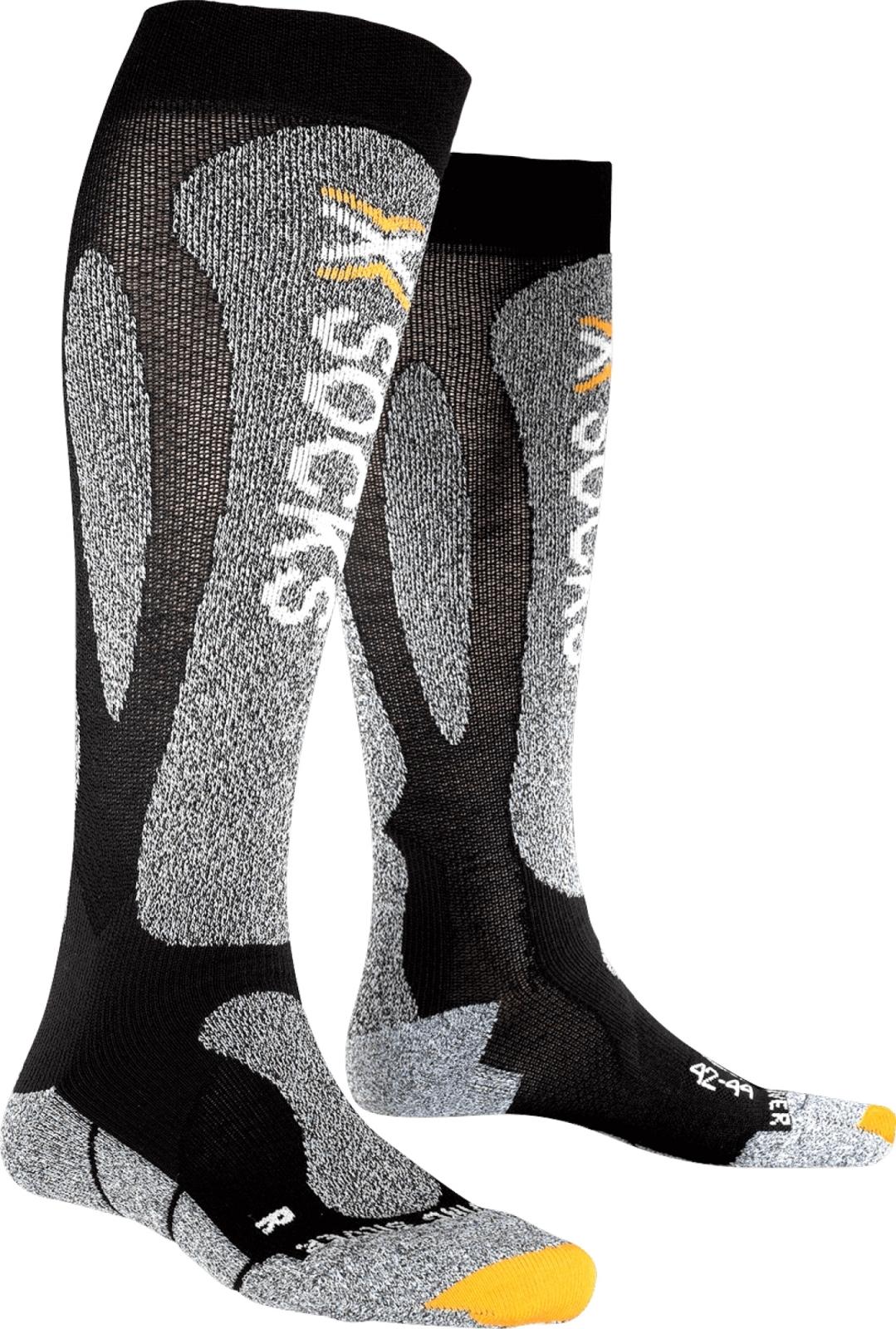 X-Socks Ski Carving Silver Socks Men - Black/Grey Melange 39-41