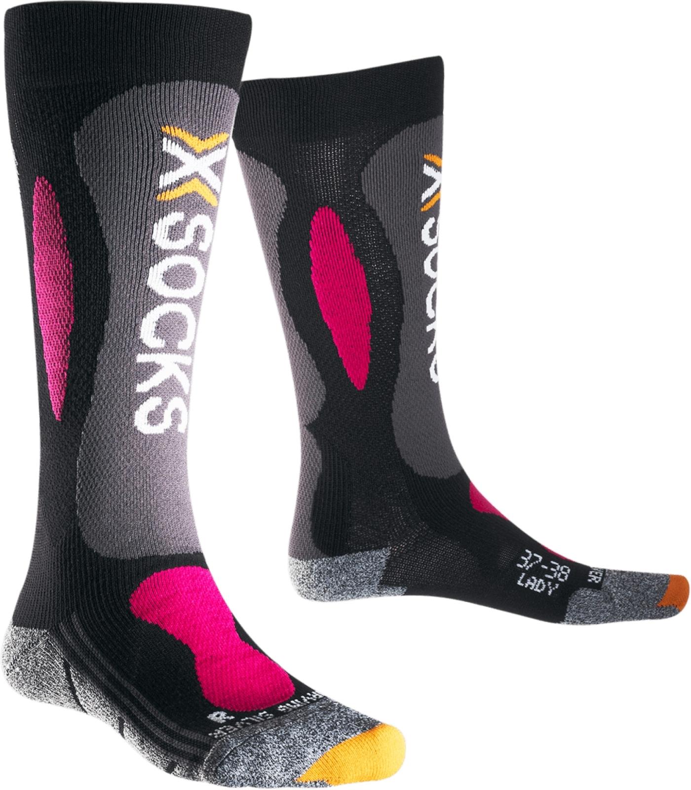 X-Socks Ski Carving Silver Socks Women - Black/Violet 35-36