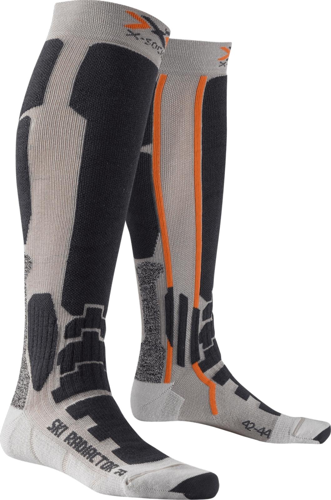 X-Socks Ski Radiactor Socks - Silver/Anthracite 45-47
