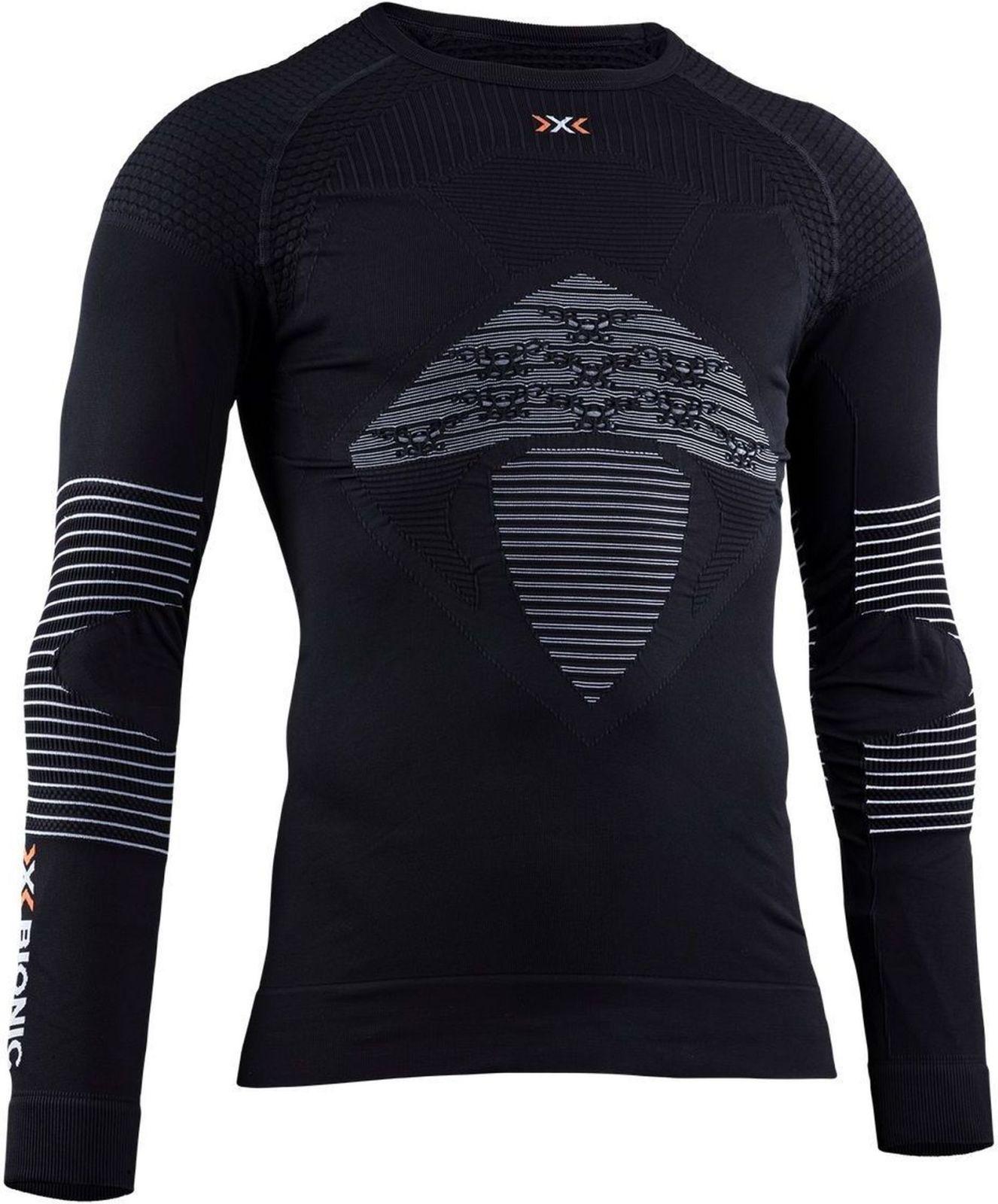 X-Bionic Energizer 4.0 Shirt Lg Sl Men - opal black/arctic white XXL